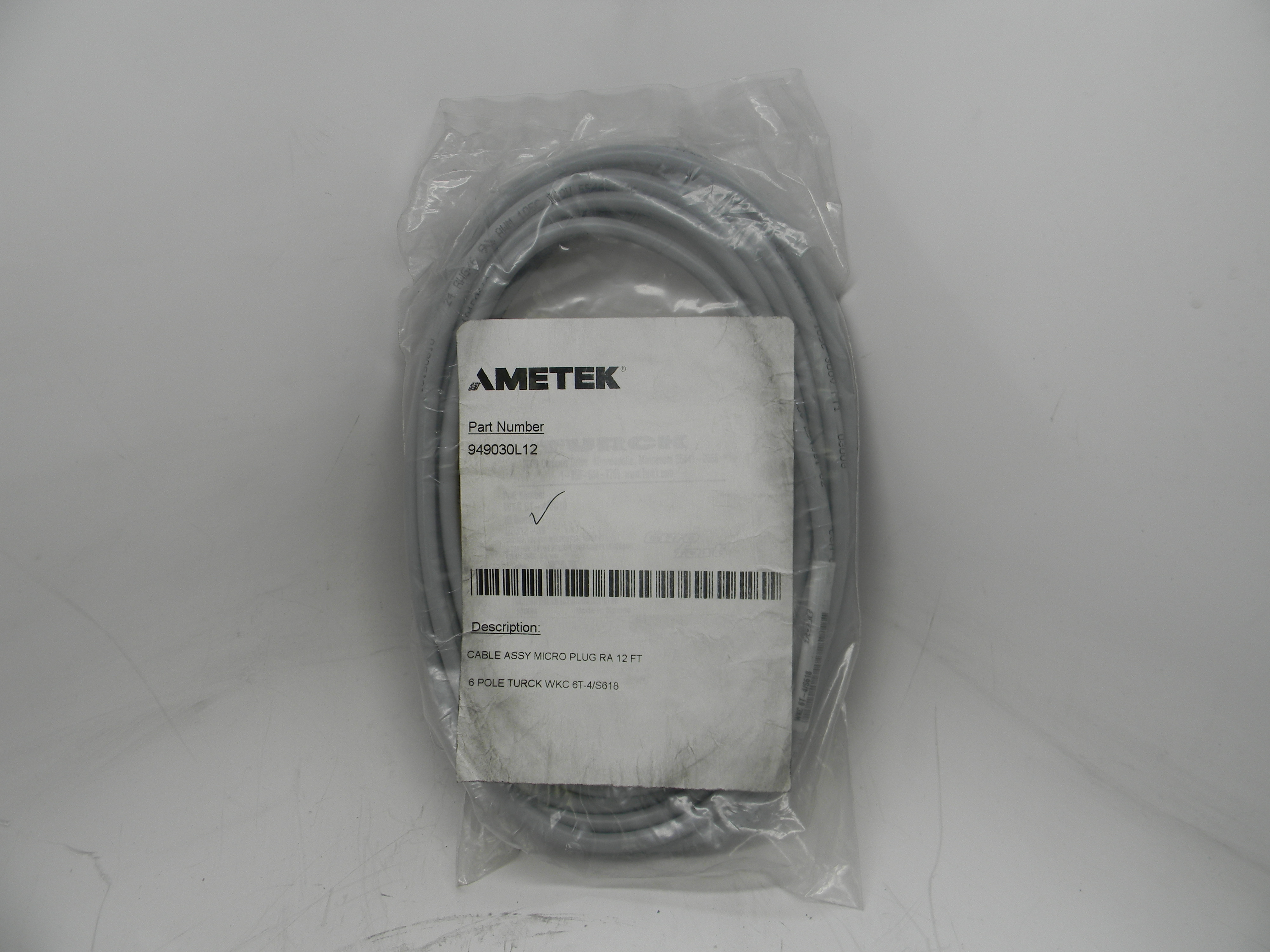 Straight Connector SD0439700L10 Ametek Gemco Cable Connector Assembly For a Rod Style LDT with a 10 Pin