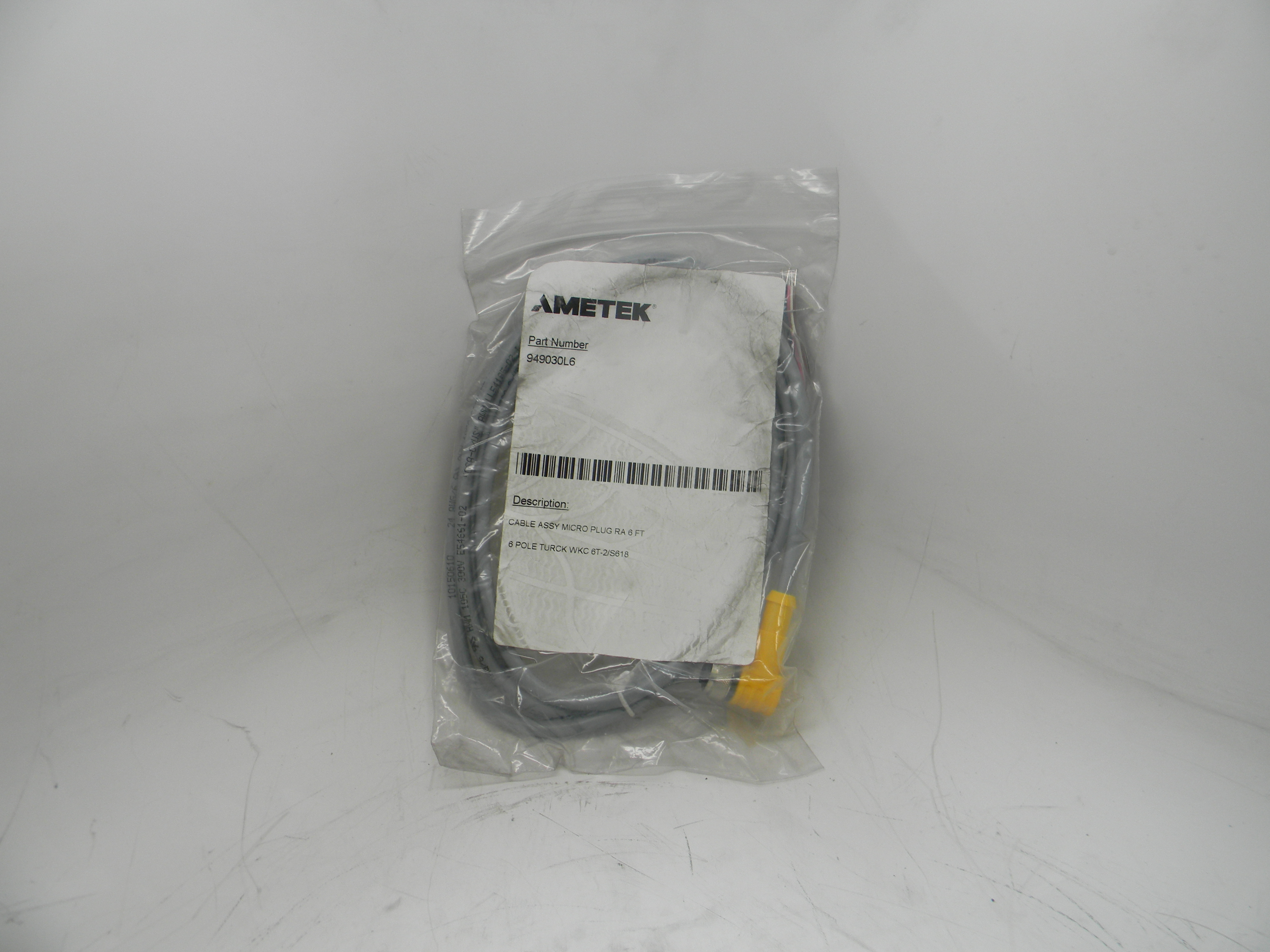 Ametek Gemco Cable Connector Assembly For a Rod Style LDT with a 10 Pin SD0439700L10 Straight Connector