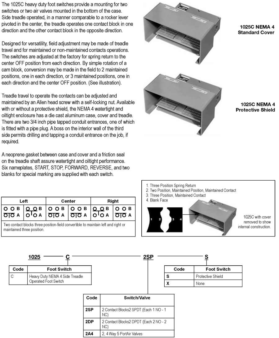 Products Press Safety Products1025 Is A 4 Way Switch Dpdt 1025c Foot And Palm Replacement Parts