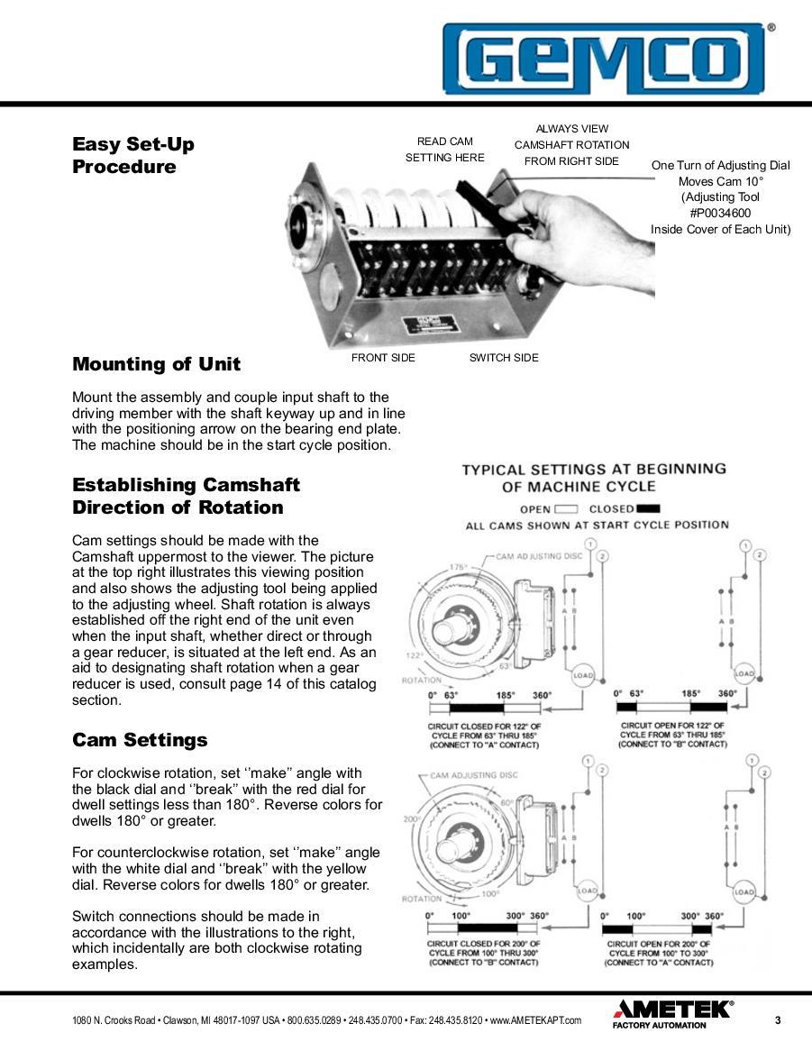 Cam Limit Switch Diagram